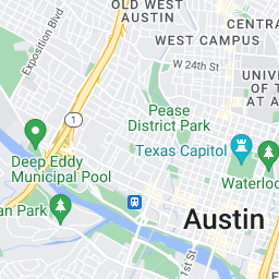 Map For Barton Creek Texas White Water Loop 360 To